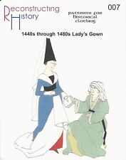 Schnittmuster Reconstructing History RH 007 Paper pattern 1440s-80s Ladies Gown
