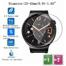 Universal Round Smart Watch Tempered Glass Screen Protector Film 23-42mm
