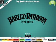 HARLEY DAVIDSON DECAL - VINTAGE, CHOPPER, MAN CAVE - MATT BLACK or COLOURS