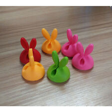 6PC Rabbit Cable Drop Clip Desk Tidy Organiser Wire Cord Lead USB Charger Holder
