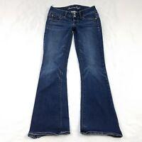 American Eagle Womens Size 4 Boot Cut Artist Super Stretch Jeans Medium Wash