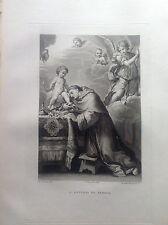 F. ROSASPINA SANTO ANTONIO DA PADOVA con Angelo e putti 1830 ACCADEMIA BOLOGNA