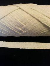 Pyjamas cord.100% natural un-bleached cotton. Flat  6 mm 3 m. shoe lace, tape.