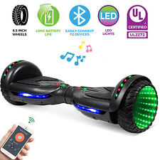 Bluetooth Hoverboard Electric Self Balance Scooter no Bag Tunnel Light Flashing