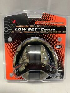 Radians LS4UCS Low Set Profile Earmuff 21 dB Camo Hunting Shooting Earmuffs