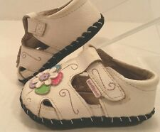 Pediped T-Strap Mary Jane White Leather Shoe Infant Baby Girl 2.5-3.5   0-6 Mos