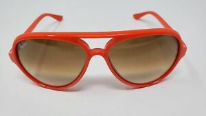 """Ray-Ban RB4125 Cats 5000 Unisex Sunglasses Red """"NEW"""""""