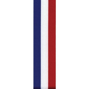 """5/8"""" Tri-Stripe Grosgrain Ribbon - Red/White/Blue - Made in USA - 4th of July"""