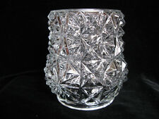 Retro Glass Lampshade - clear wall light cylinder bulge shade lamp 1980's 1970's