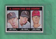 1967 Topps Baseball A.L. Era Leaders Peters/Horlen/Hardin # 233 NM-MT Low Pop!!