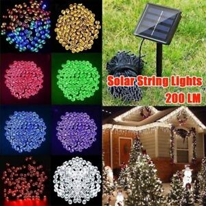 22M 200 LED Solar String Fairy Lights Lamps Party Christmas Decor Garden Outdoor