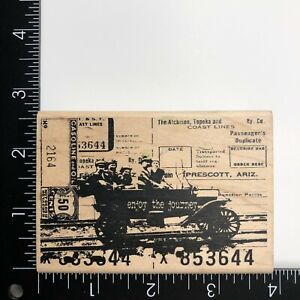 Stampers Anonymous Holtz Vintage Car Collage Wood Mounted Rubber Stamp M1-1101
