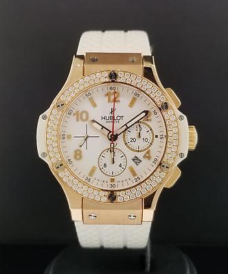 Hublot Big Bang White 44mm 18k Rose Gold Factory Diamod Bezel Ref 301.PE.230.RW