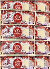 LOT Trinidad and Tobago 10 x 1 dollar 2006 (2014) P-New New Sign. UNC > Braille