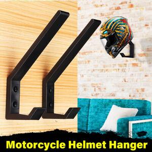 2pcs Motorcycle Helmet Hat Wall Display Hanger Storage Hook Rack Holder Mount