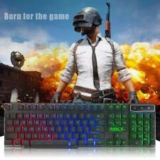 IMICE USB Wired Backlight Game Keyboard Ergonomic 104 Keys Keyboard for PC
