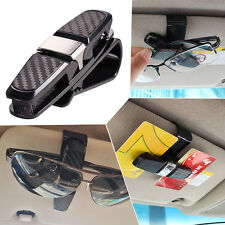 Car Auto Sun Visor Glasses Sunglasses Card Ticket Holder Clip Universal Black
