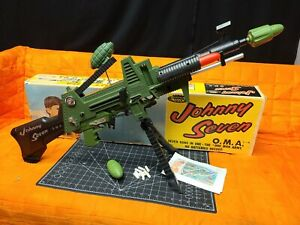 Johnny Seven One Man Army OMA Topper Toys 1964 Canada Complete. Very nice
