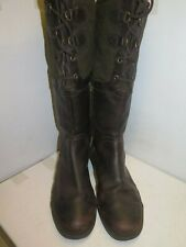 Genuine Ugg leather long Boots UK 9.5 Euro 42.5 in Brown