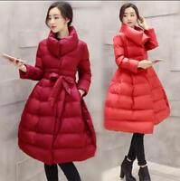 Chic Womens Winter Parka Cotton Down Padded Puffer Coat Jacket  A-Line Outerwear