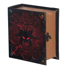Hellbent Grimoire Pro Tour Deck Box Spellbook Wooden Fabric Lined Magic YuGiOh