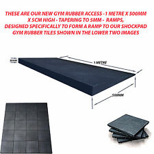 BLACK GYM RAMPS - WEIGHTLIFTING - TO SUIT - 50CM X 50CM IMPACT TILES - SAVE 60%