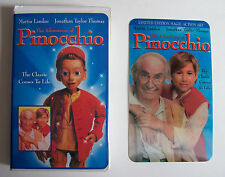 RARE The Adventures of Pinocchio LIMITED EDITION Action ART Family VHS 1996