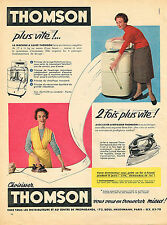 PUBLICITE ADVERTISING  1955   THOMSON  éléctroménager lave linge