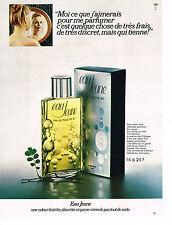 PUBLICITE ADVERTISING 044   1971   EAU JEUNE    parfum eau de Cologne