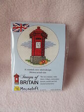 MOUSELOFT STITCHLETS CROSS STITCH KIT~  IMAGES of BRITAIN ~ RED PILLAR BOX ~ NEW