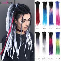 Ombre 100% Handmade Dreadlocks Hair Extensions Synthetic Punk Locs Girls Dreads