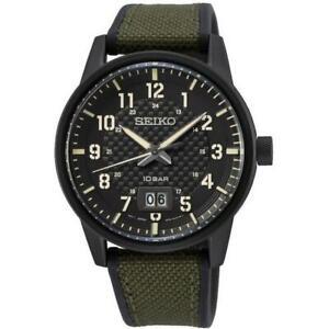 SEIKO SUR325P1 Gents Quartz Military Field Watch 2yr Warranty 100m W/R RRP £210