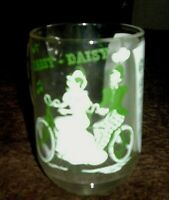 "Vintage Glass Mug 5"" tall-""Daisy-Daisy"" Sheet Music- Bicycle built for two"