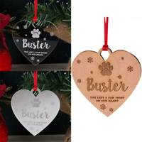 3 Style Dog Cat Pet Memorial Christmas Tree Decor Bauble Gift Not Custom Name