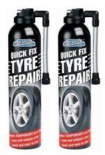 2x Car Flat Tyre Emergency Repair Kit Inflate Puncture Foam Sealant Van 300ml