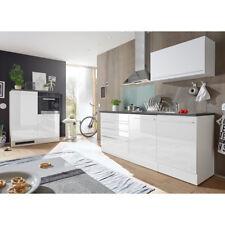 Küchenblock Jazz 4 Küche Küchenzeile Einbauküche weiß matt Hochglanz anthrazit