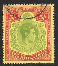 Bermuda 1939 5/- Pale Green & Red/Yellow SG 118a (Fine Used)