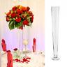 clear glass large stem vase conical floor trumpet vase centrepiece 40cm/16inch