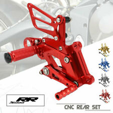 Motorcycle CNC Adjustable Footrests Pegs Rearset Rear Sets For BMW S1000RR 15-17