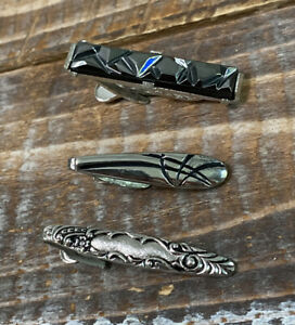Lot of 3 Vintage Tie Clips 2 Sarah Coventry Clips 1 Unbranded