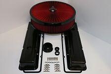 Sbc Negro Motor Dress Up Kit Corta Cubiertas de Válvula Rojo Flujo Lavable