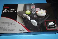 """Worthy Arm Rest Organizer in Box 5 pockets Adjustable 11""""x7"""" with Large Pouch"""