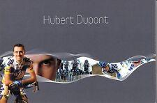 CYCLISME  carte cycliste HUBERT DUPONT équipe AG2R 2007