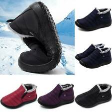 Womens Ladies Fur Lined Snow Ankle Boots Winter Warm Waterproof Sneakers Shoes