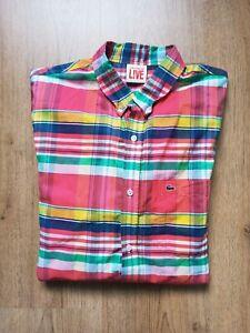 Lacoste Live Herren Hemd Shirt Gr.L  42 bunt  Regular Fit Kariert !