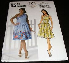 Butterick 6323 Rockabilly One Shoulder Dress Patterns by Gertie Misses 6-14 Sew