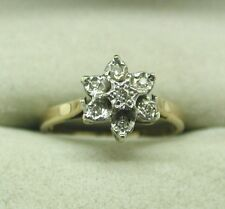 A Lovely 9ct Gold And Diamond Flower Cluster Ring