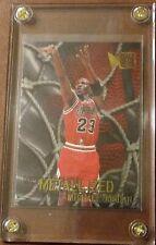 1996-97 Fleer Metal Metallized Michael Jordan #128 In Slab Case Near Mint 🔥🏀.
