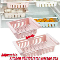 Freezer Refrigerator Space Saver Shelf Holder Storage Organizer Rack Kitchen ♪