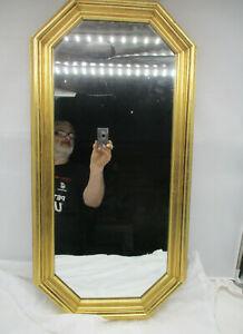 "Alter Spiegel Wandspiegel Holzrahmen ""Edel Look Gold"" 80x40 cm"